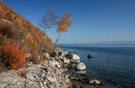 Autumn at Lake Baikal near the Circum-Baikal Railway