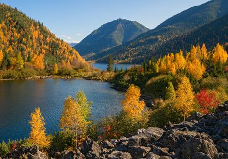 山の秋の初め