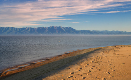 View of the Svyatoy Nos Peninsula in the Gulf of Barguzin