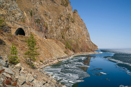 Baikal in the south almost melted