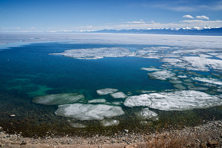 Lake Baikal in early May Banco de Imagens