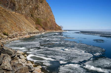 Lake Baikal in early May Imagens