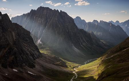 Mountains range Kodar in Transbaikalia, Eastern Siberia Imagens