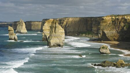 12 apostles on the great ocean road in victoria, australia photo