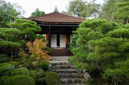 ninnaji: Reimeiden hall housing a national treasure inside the Ninna-ji temple in Kyoto, World heritage site