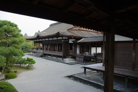 Inside the Ninna-ji temple in Kyoto, World heritage site Stock Photo - 12060816