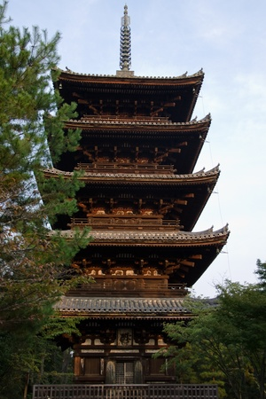 ninnaji: Pagoda at the Ninna-ji temple in Kyoto, World heritage site