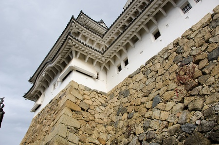 Detail of the Himeji castle in Japan, traditional japanese architecture