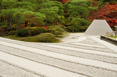 Sand pyramid at Ginkaku-ji temple in Kyoto, Japan