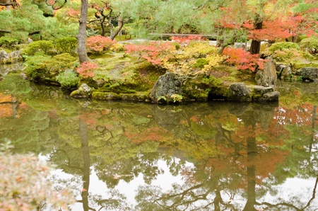 Japanese garden at Ginkaku-ji temple in Kyoto, Japan Stock Photo - 13575421
