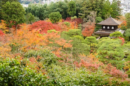 World heritage site Ginkaku-ji or silver temple in Kyoto, Japan in autumn