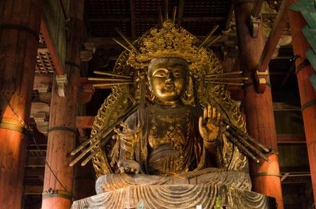Small buddha statue in the Todai-ji temple in Nara, Japan Stock Photo - 13685071