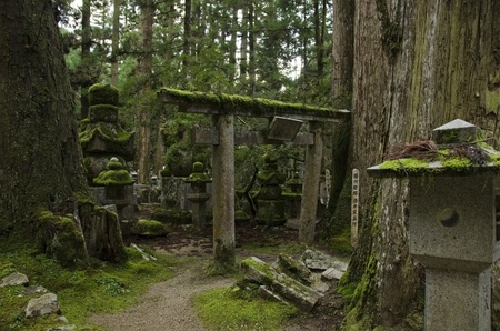 Okunoin cemetery at Mount Koya and Koya-san in Wakayama, Japan. World Heritage Site Stock Photo - 14418681