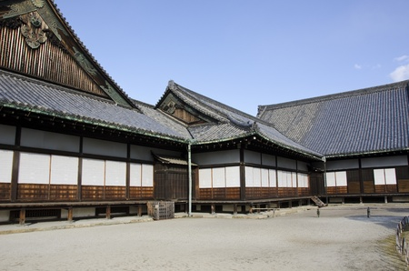 nijo: Outdoor view of ninomaru palace in Nijo castle in Kyoto, Japan