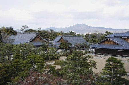 Outdoor view of ninomaru palace in Nijo castle in Kyoto, Japan Stock Photo - 17764846