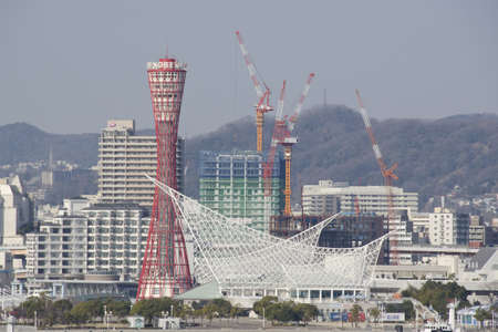 View on Kobe city in Japan with Kobe tower