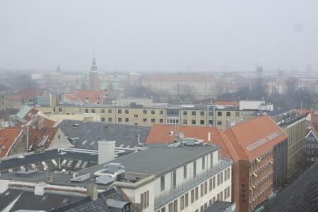 Copenhagen on a foggy day with Rosenborg castle Stock Photo - 18115502