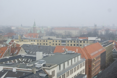 Copenhagen on a foggy day with Rosenborg castle Stock Photo - 18115502