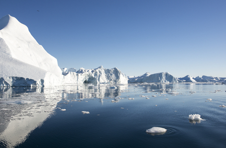 Beautiful Icebergs in Disko Bay Greenland around Ilulissat photo