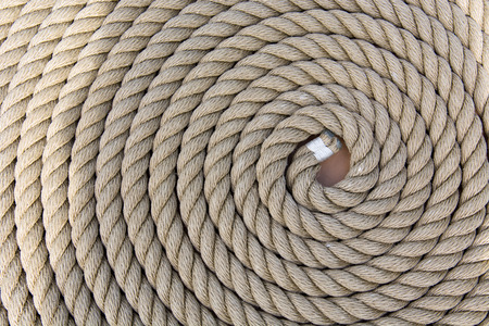Roll of a rough strong ship rope background pattern  photo