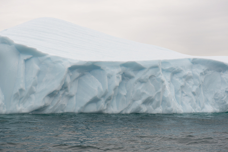 arctic waters: Detail of a beautiful iceberg in arctic waters around Disko Island in Greenland