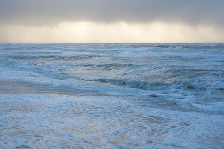 wavely: Stormy sea as seen from the beach with high waves