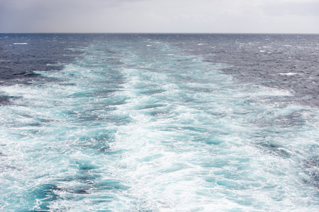 Wake of a large ship on the North Atlantic Ocean