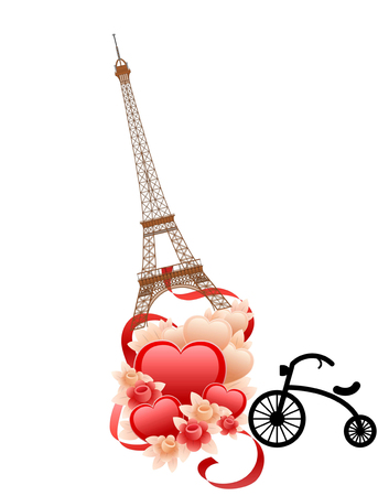 love image: Image of love in paris france Stock Photo