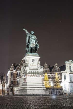 jacob: The famous Jacob van Artevelde statue on the Friday Market in Ghent Belgium