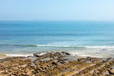 Peniche, Portugal - Beautiful seacacape of a rocky beach