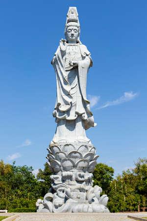 Bombarral, Portugal -  One of the Buddha statues in the Buddha Eden Garden Banco de Imagens