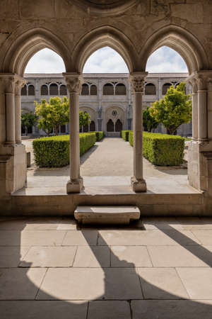 ALCOBACA, PORTUGAL - Beautiful gardens of the the Mosteiro de Santa Maria de Alcobaca