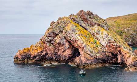 Beautiful rock formation in the Berlengas nature reservation