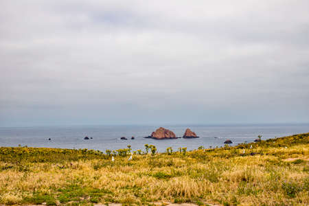 View from one of the islands in the small Berlenga Archilpelago Banco de Imagens