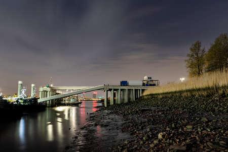 Night View of the Harbor, Antwerp, Belgium