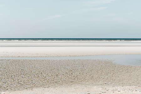 Oostduinkerke, Belgium - Minimalistic seascape with layers and green tint