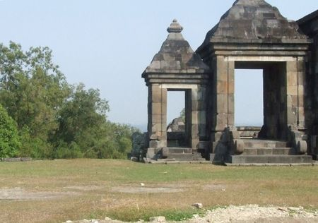 remains: Ratu Boko, Medieval palace remains, Central Java, Jogya Stock Photo