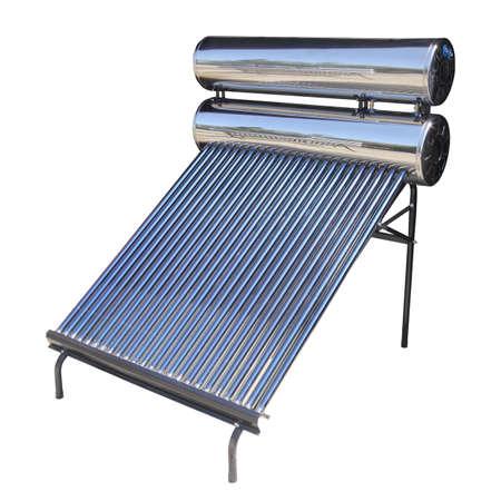 cobradores: Calentador de agua solar con colectores de tubo