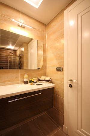 cabine de douche: bureau de salle de bains Banque d'images