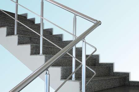 Aluminium handrail Stock Photo