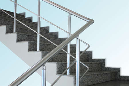 Aluminium handrail Stock Photo