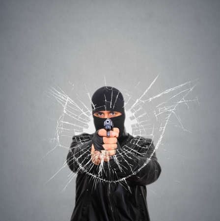 Terrorist Shoot Stock Photo