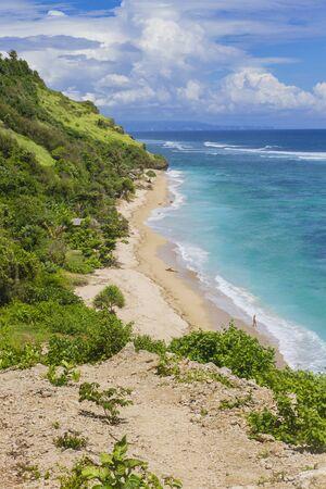 Empty secret tropical beach