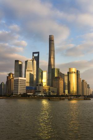 Modern asian city downtown. Shanghai.