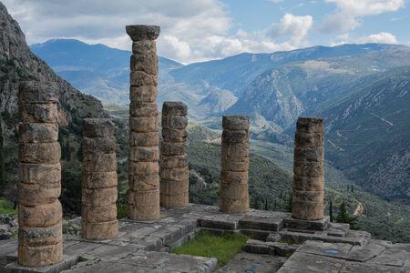 apollo: Temple of Apollo at Delphi oracle