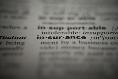 underwriter: Definition of the word insurance, close up