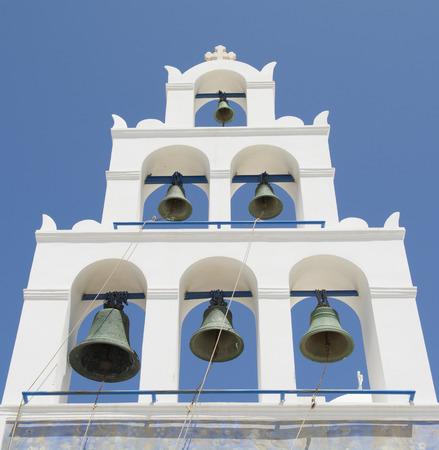 belfry: Belfry of Church in Oia, Santorini, Greece