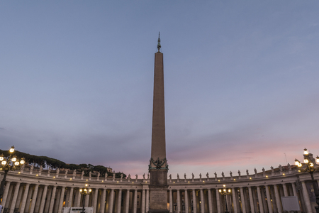 St peters square in Vatican city at sunset