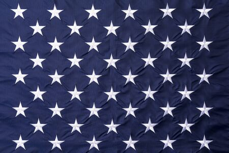 Full frame of the 50 stars of the United States flag, symbolizing the 50 states of America