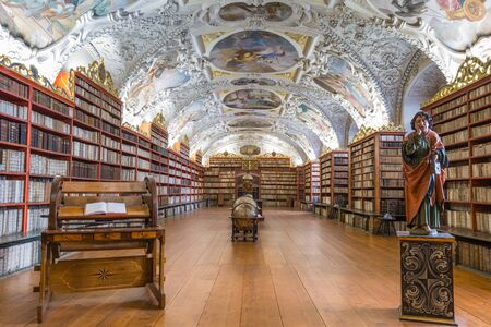 The Theological Hall of Strahov Library, Prague, Czech Republic Stock Photo